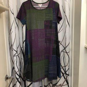 LuLaRoe Carly high low swing dress. Size XS